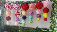 Wholesale Hot For Nurse - Free shipping 12 Inch Wedding silk Pomander Kissing Ball flower ball decorate flower artificial flower for wedding garden market decoration