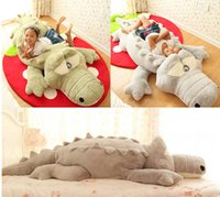 Оптовый дешевый GIANT BIG PLUSH CROCODILE STUFFED ANIMAL PLUSH SOFT TOY CUSHION PILLOW CUTE GIFT