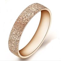 Wholesale Rose Jewelry Rings - 1 Fashion Woman Rose Gold Stainless Steel Ring Band finger women Jewelry Love Size