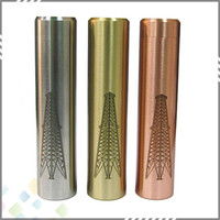 Wholesale Ecig Mods Body - Newest Rig Mod Machanical Mods Ecig E Cigarettes Copper SS Brass 18650 Battery Body fit 510 RDA Atomzier Full Mecanical Mod DHL Free