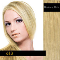 """Wholesale Dark Auburn Micro Ring Extensions - 100g 18"""" 20"""" 22"""" #613 Bleach Blond INDIAN REMY Human Micro Ring loop Hair Extension 1g s 5A Grade Indian Hair Extension"""