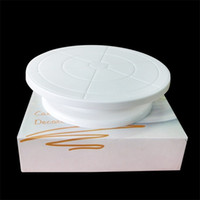 Wholesale Cake Turntables - Cakes Turntable Rotating Plastic Round Shaped Cake Turntables Baking Decoration Articles For Kitchen Tool Durable 8 2rs C