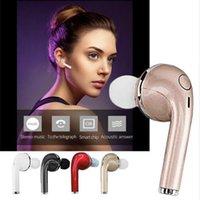 Wholesale Hot Brand Headphone - Mini bluetooth headset in-ear headphones V1 CSR4.1 hot wireless earphones stereo headset Handsfree Car Driver earphone With Mic