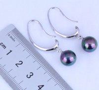 Wholesale Earring Gift Bags - New Design Black Pearl Drop Earrings for Womens Free Gift Bag J0493 Free Fast Shipping earring hook