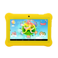Wholesale Capacitive Kids Tablet - US Stock! 7 Inch iRULU Android4.4 A33 Kids Tablet PC QuadCore Dual Camera Drop Resistance Child Tablets 1024*600 HD Screen