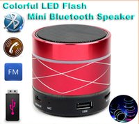 Livre DHL B13 Bluetooth Speaker Mini USB Flash Disk Placa de som Multifuncional Colorido LED Portable Wileress Rádio Speaker FM Com Display