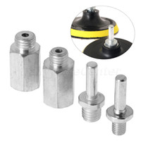 """Wholesale Loop Rod - Wholesale- Steel M10 M14 5 8""""-11 Drill Adapter Thread For Polishing Pad & Hook Loop Backer Plate Connecting Rod For Car Polisher"""