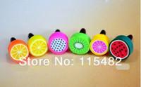 Wholesale Phone Ear Cap Fruit - Wholesale-Cute Fruit Dustproof plug ear cap ear plug for smart phone 10000pcs Free DHL