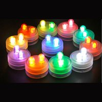 Wholesale Party Gifts Led Lights - Dual Din Christmas Gift LED Submersible Waterproof Candle Light Lamp Fish Tank Vase Tea Wedding Party Home Decoration Lights Multicolor