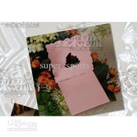Wholesale Heart Desgin Golden Wedding Invitation Card Western Style MIC FFF
