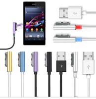 Wholesale Xperia Z1 Magnetic - Magnetic Charger Cable for Sony Xperia Z1 L39h Z1Compact Z2 Z3 Z Ultra With LED Indicator With Retail Package