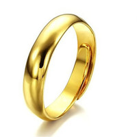 Wholesale Tungsten Gold Rings For Couples - Wholesale-Promotion 24K gold ring wedding rings for men women tungsten couple jewelry wholesale