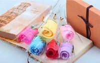 serviette faveur de fête de mariage achat en gros de-20 pcs Mignon Rose Style Serviette Coton Serviettes Créatives Pour La Fête D'anniversaire Faveur D'anniversaire Cadeau Souvenirs Souvenir
