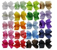 "Wholesale Cheap Wholesale Boutique Hair Bows - 20pc Wholesale Cheap Low Price Hair Bows Big 5.5"" Boutique Girl Baby Alligator Clip Large Grosgrain Ribbon Bows"