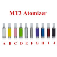 Wholesale Evod Bcc Mt3 Cartomizer Kanger - MT3 Clearomizer eVod BCC MT3 Kanger Atomizer 2.4ml bottom coil tank Cartomizer for EGO EGO-C EGO-W EGO-T Series E-Cigarette FREE SHIPPING