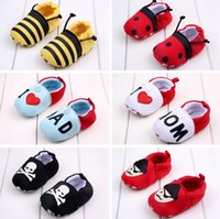 Wholesale First Athletic Shoes - Baby First Walker Shoes non-slip Slip-On shoes girl boy cartoon cotton Athletic Casual Shoes gift