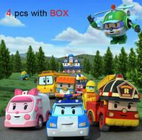Wholesale Thomas New Toys - 4Pcs   lot New Brand Baby Toys Korean Anime Robocar poli robot Toy Thomas Toys Pink And Green Gift For Kids Free Shipping
