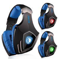 kopfhörer sades großhandel-Wholesale-SADES A60 Spiel Headset Vibrationsfunktion und 7.1 Surround Sound Professional Gaming Kopfhörer Kopfhörer