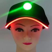 Wholesale led baseball caps wholesale - Fashion Party Hats with LED Lights Baseball Caps Travelling Sun Hat Varible Rich Colors Adjustment Size Caps