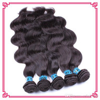 Wholesale Cheap 1pcs Hair Extension - 6A indian hair body wave 1pcs lot cheap 10% unprocessed raw indian hair bundles can be dyed natural color human hair extensions