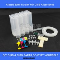 Wholesale Printer Filter - 4 color DIY Universal Continuous Ink System CISS kit with accessories syringes air filters etc.,without cartridges