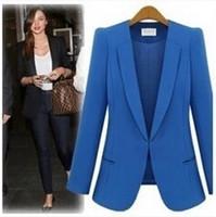 Wholesale Red Woman Business Suit - woman business suit coat 8colors Women's Suits & Blazers free shipping
