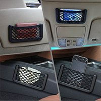 Wholesale Car Seats Low Prices - Hot Sale Car Phone Net Holder Car Seat Side Sticky Adhesive Mobile Phone Storage Net with Wholesale Lowest Prices