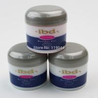 Wholesale Gel Ibd Pink White - Wholesale-3 color IBD Builder Gel 2oz   56g - Strong UV Gel Pink Clear White for nail art false tips extension