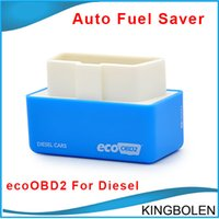 Wholesale mitsubishi diesels - EcoOBD2 Connector Car Chip Tuning Box 15% fuel save Plug and Drive OBD2 ECU Remaping for Diesel Cars Lower Fuel Lower Emission