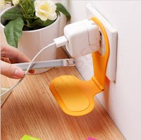 Wholesale Cute Hanging Wall - Cute Portable Mobile cell Phone Charge charger Rack Storage Foldable Charging Holder Stand Shelf hung up the wall to charge the phone