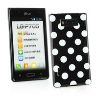 Wholesale Lg L7 Cases - Hot Lovely TPU Polka Dots Style Back Skin Cover Case For LG Optimus L7 P705 Soft Phone Case Free