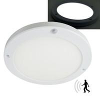 Wholesale bright white led panel for sale - Group buy 18W PIR Led Sensor Downlight Super bright led panel light Infrared Detector Motion Switch Round Flush Mount Light
