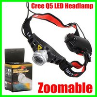 Wholesale Cordless Led Light Lamp - Cordless Mining Head lamp CREE Q5 LED Lamp Head light Torch Headlamp Zoomable for Camping Hiking Hunting Free Shipping