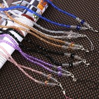 Wholesale Bead Mobile Phone Chain - Practical Mobile Phone Chain Rope Crystal Bead Neck Straps Universal Hanging Lanyard For Men And Women 2 8yl B