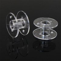 Wholesale Wholesale Sewing Machine Bobbins - Durable Lots 10pcs Clear Plastic Empty Bobbins For Brother Janome Singer Sewing Machines sewing tools High quality