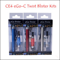 Wholesale Ego C Battery Colors - CE4 Blister kits eGo C Twist 650mah 900mah 1100mah eGo-c Twist Variable Voltage Battery for E Cigarette E Cig All Colors Instock
