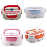 Wholesale Electric Heating Lunch - Lunch Box Multi Functional Portable Electric Heating Lunchbox Heat Preservation Bento With Spoon Multi Color 39fs C R