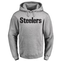 Wholesale Pink Football Sleeves - american football PITTSBURGH STEELER hoodies 7 Ben Roethlisberger 26 Bell 84 Antonio Brown 90 T.J. Watt sweathirts