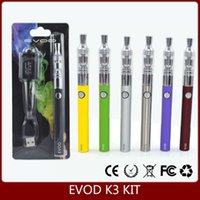 Wholesale Wholesale Evod Vapor - EVOD K3 KIT pyrex glass rebuildable atomizer wax dry herb vaporizer vapor cigarettes kit for ego evod vision battery