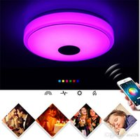 Wholesale Holiday Wholesale Cell Phones - Bluetooth Smart Music Ceiling Phone Cell Phone APP Control Lighting Colorful Disco Creative Lamp Living Room Bedroom Light