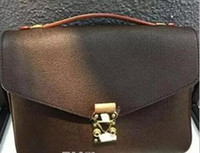Wholesale Real Fur Handbags - Top quality Free shipping genuine real leather women's handbag pochette Metis shoulder bags crossbody bags messenger bag M40780 purse