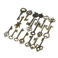 18pcs mixte Couronne Antique Vintage Retro ancien look Skeleton Key Lot Bow Charm Pack de Belle conception afin $ 18Personne piste