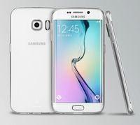 galaxy net cep telefonu davaları toptan satış-Samsung Galaxy S6 Kenar için kılıfları 0.3mm Süper Slim Fit Crystal Clear Şeffaf Yumuşak TPU Jel Kılıf Cep Telefonu Aksesuarları Kılıfları