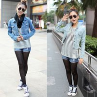 Cheap Slim Fit Denim Jacket Women | Free Shipping Slim Fit Denim ...