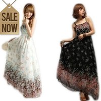 Wholesale ankle length wool dresses - Fashion Bohenmia Braces on thoracic dress beach broken beautiful summer long dress