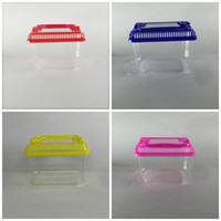Wholesale Pet Rat Houses - Hamster Cage Cute Little Pet Rabbit House Portable Transparent Plastic Goldfish Bowl Multi Colors 1 35jj C R