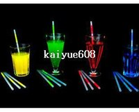 Wholesale Reusable Plastic Drinking Straws - wholesale party supplies reusable plastic drinking straws glow in the dark product Led Straw free shipping