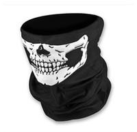 Wholesale Motorcycle Shin Guards - 2015 new Free shipping Skull Design Multi Function Bandana Ski Sport Motorcycle Biker Scarf Face Mask Sport mask 500pcs
