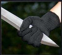 luva de malha venda por atacado-Luvas de segurança Proteger Luvas De Fio De Aço Inoxidável Cortar Metal Butcher Butcher Anti-corte Luvas De Trabalho Respirável