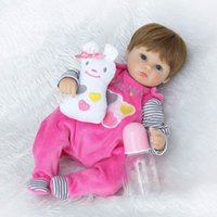 Wholesale bouquet toys diy for sale - Group buy Npkcollection quot cm Silicone Reborn Baby Doll Kids Playmate Gift For Girls Baby Alive Soft Toys For Bouquets Doll Bebe Reborn